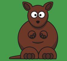 Cartoon Kangaroo Kids Tee
