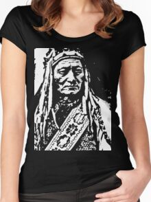 SITTING BULL-8 Women's Fitted Scoop T-Shirt