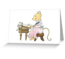 LETTER MOUSE Greeting Card