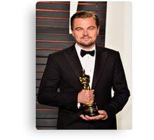 Leonardo DiCaprio with the Oscar Canvas Print