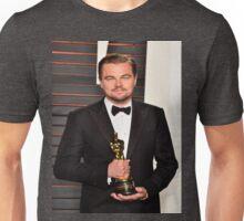 Leonardo DiCaprio with the Oscar Unisex T-Shirt