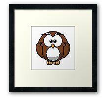 Cartoon Owl Framed Print