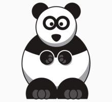 Cartoon Panda Bear One Piece - Short Sleeve