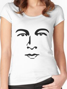 Silent Stars - Rudolph Valentino Women's Fitted Scoop T-Shirt