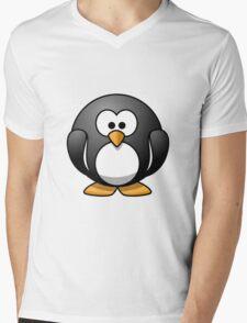 Cartoon Penguin Mens V-Neck T-Shirt