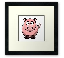 Cartoon Pig Framed Print