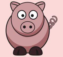 Cartoon Pig One Piece - Short Sleeve