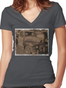 """Old Photographs and Memories""... prints and products Women's Fitted V-Neck T-Shirt"