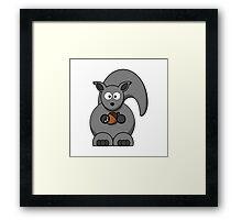 Cartoon Squirrel Framed Print