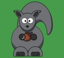 Cartoon Squirrel Kids Tee