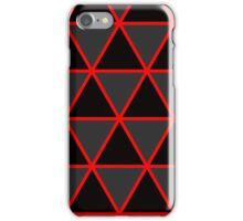 Cool Geometric Black and Red iPhone Case/Skin