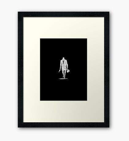 Parker - Silhouette - White Dirty Framed Print