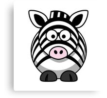 Cartoon Zebra Canvas Print