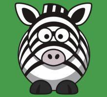 Cartoon Zebra Baby Tee