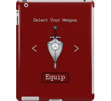 D&D Select Your Weapon:Sword&Shield iPad Case/Skin