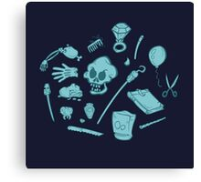 The Curse of Monkey Island Inventory (blue) Canvas Print