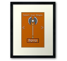 D&D Select Your Weapon:Axe Framed Print