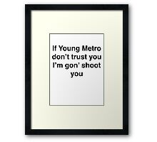 Future Quote Framed Print