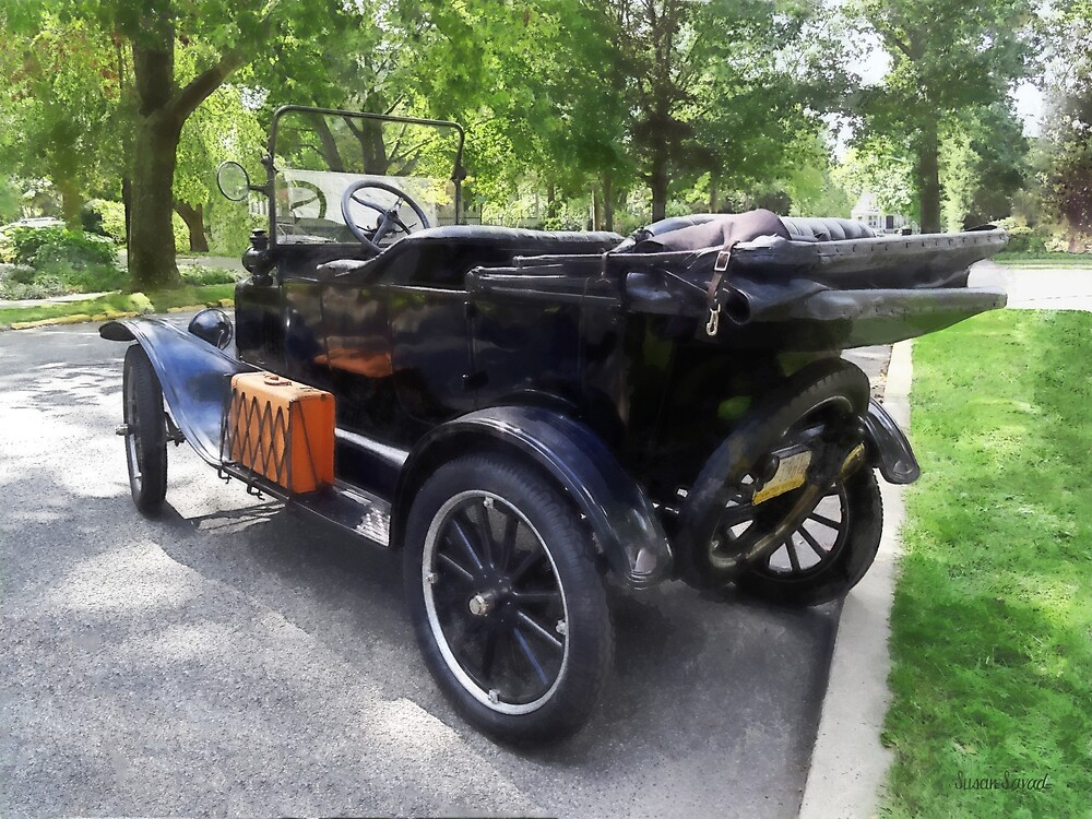 Model T With Luggage Rack by Susan Savad