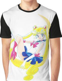 Cute Sailor Moon Graphic T-Shirt