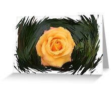 Line Impression: Yellow Rose Greeting Card