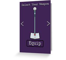 D&D Select Your Weapon:Staff&Spell Book Greeting Card