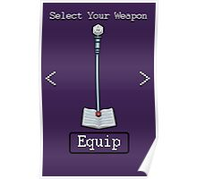 D&D Select Your Weapon:Staff&Spell Book Poster
