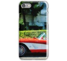 Red And White Corvette Convertible iPhone Case/Skin