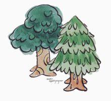 Animal Crossing inspired Trees Baby Tee