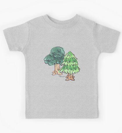 Animal Crossing inspired Trees Kids Tee