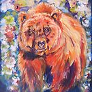 Bear in the Chintz Garden by twopoots