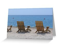 """""""Buoys and Chairs"""" Greeting Card"""
