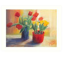 longing for spring - tulip Art Print