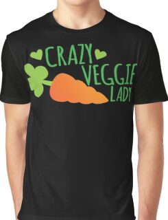 Crazy Veggie Lady Graphic T-Shirt