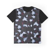 Abstract Butterfly Wings Pattern Graphic T-Shirt