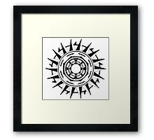 Hand-Drawn Compass Mandala Framed Print