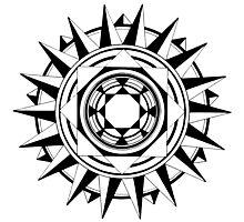 Hand-Drawn Compass Mandala Photographic Print