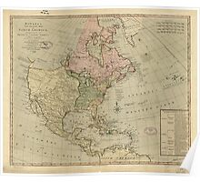 American Revolutionary War Era Maps 1750-1786 344 Bowles's new pocket map of North America divided into it's provinces colonies states &c Poster