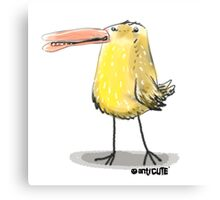 yellow chick cartoon style illustrated Canvas Print