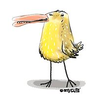 yellow chick cartoon style illustrated Photographic Print