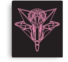 Pink Neon Fighter Canvas Print