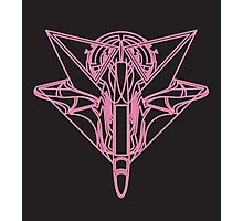 Pink Neon Fighter Photographic Print