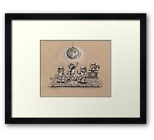 Dance Party in Space Framed Print