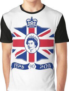 Queen Elizabeth 90th Birthday Graphic T-Shirt
