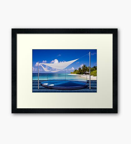 Luxury resort in the Maldives Framed Print