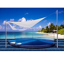 Luxury resort in the Maldives Photographic Print