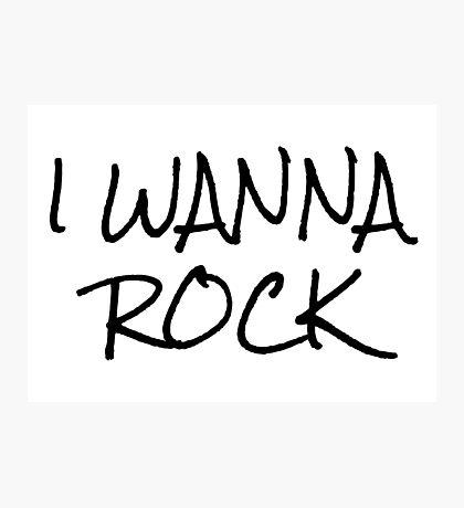 Punk Rock Music T-Shirts Photographic Print