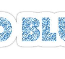 GO BLUE Sticker