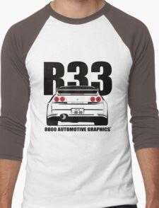 Nissan Skyline R33 Transparent Version Men's Baseball ¾ T-Shirt