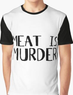 Vegetarian Meat Is Murder Vege Green  Graphic T-Shirt
